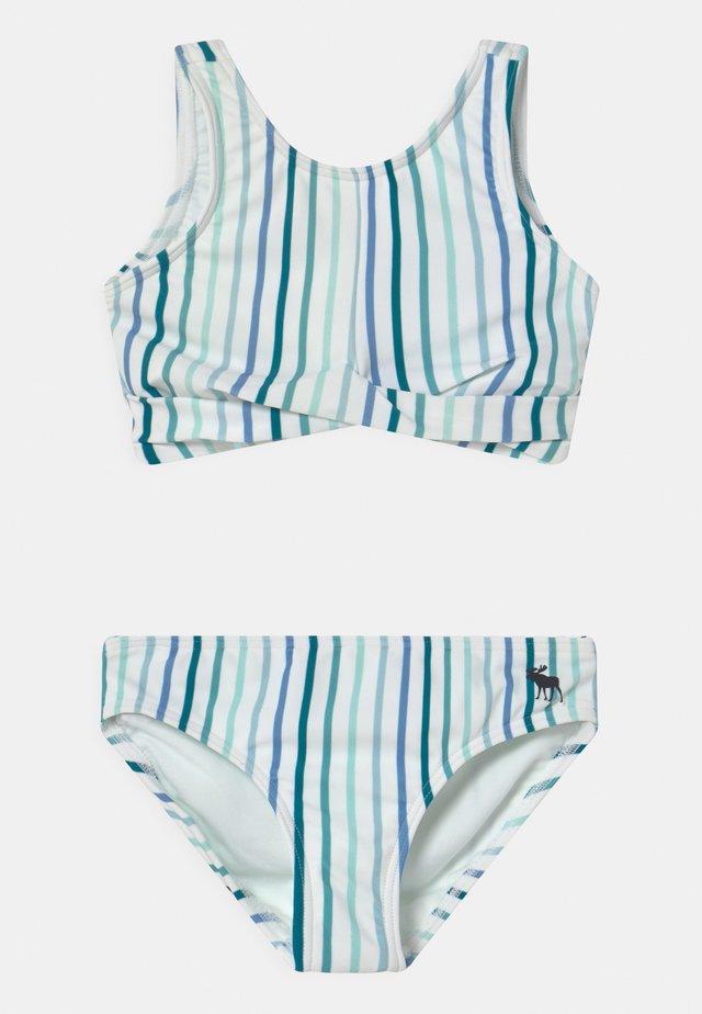 TWIST FRONT NECK SET - Bikini - blue