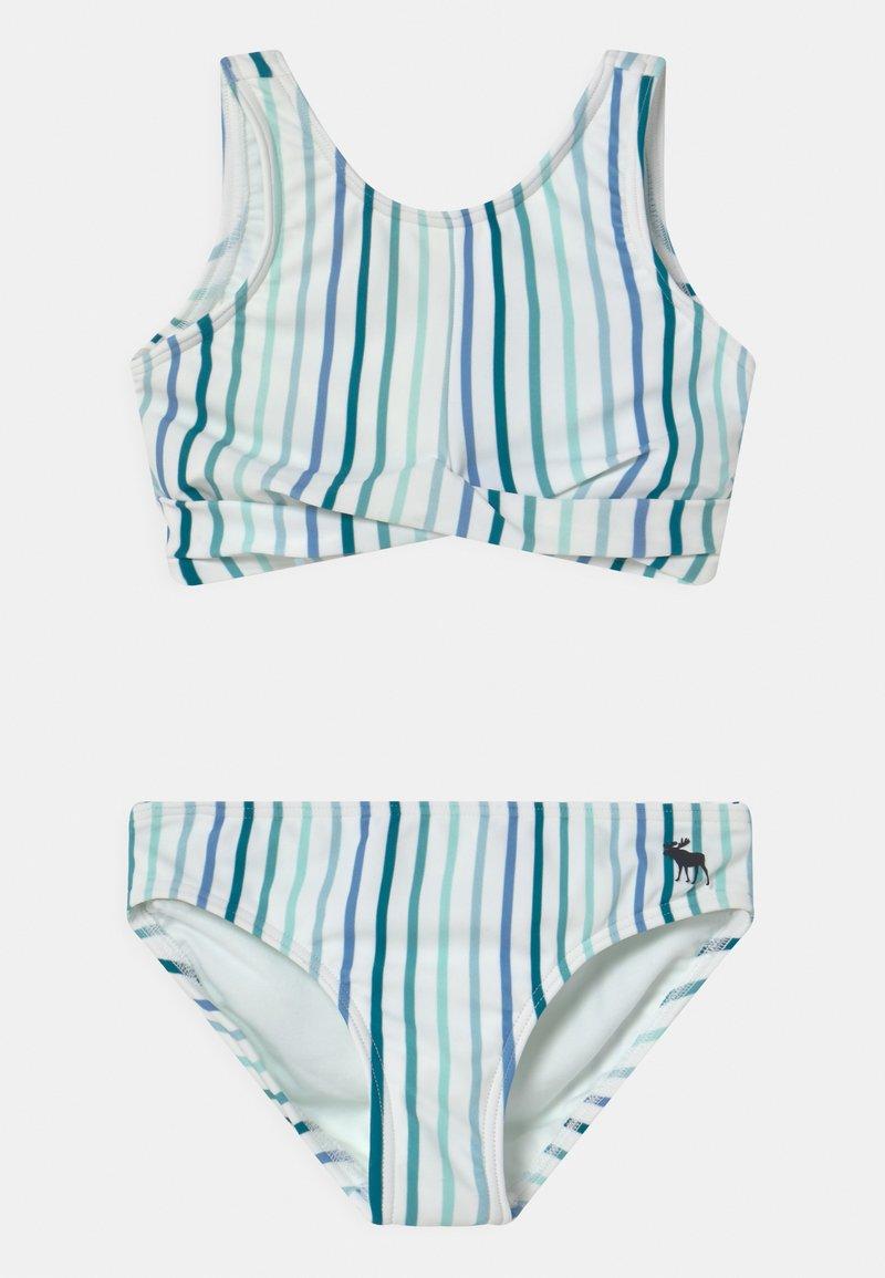 Abercrombie & Fitch - TWIST FRONT NECK SET - Bikini - blue