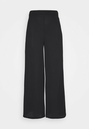 SAGA WIDE PANT - Pantalones - black