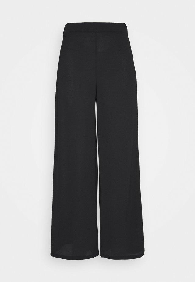 SAGA WIDE PANT - Bukse - black