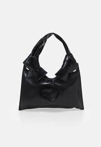 KNOT EVENING BAG - Käsilaukku - black