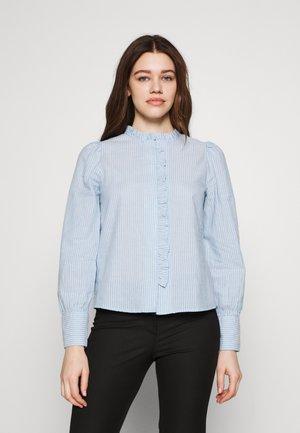 ONLAMARYLLIS  - Button-down blouse - blue fog/cloud dancer