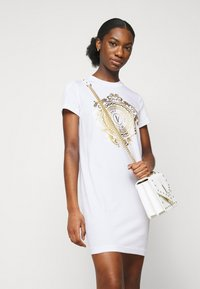 Versace Jeans Couture - DRESS - Jersey dress - optical white/gold - 4