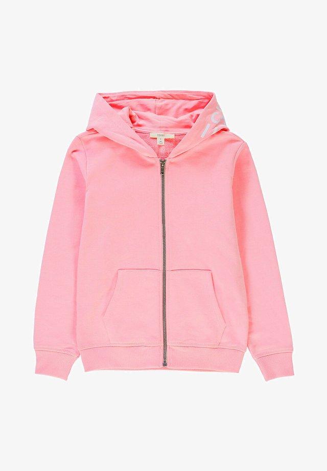 veste en sweat zippée - light pink