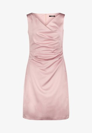 MIT RAFFUNG - Shift dress - foggy rose