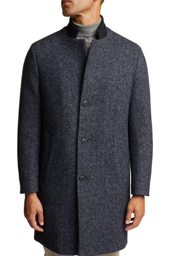Esprit Collection Płaszcz wełniany /Płaszcz klasyczny - dark grey/ciemnoszary Odzież Męska TJLG