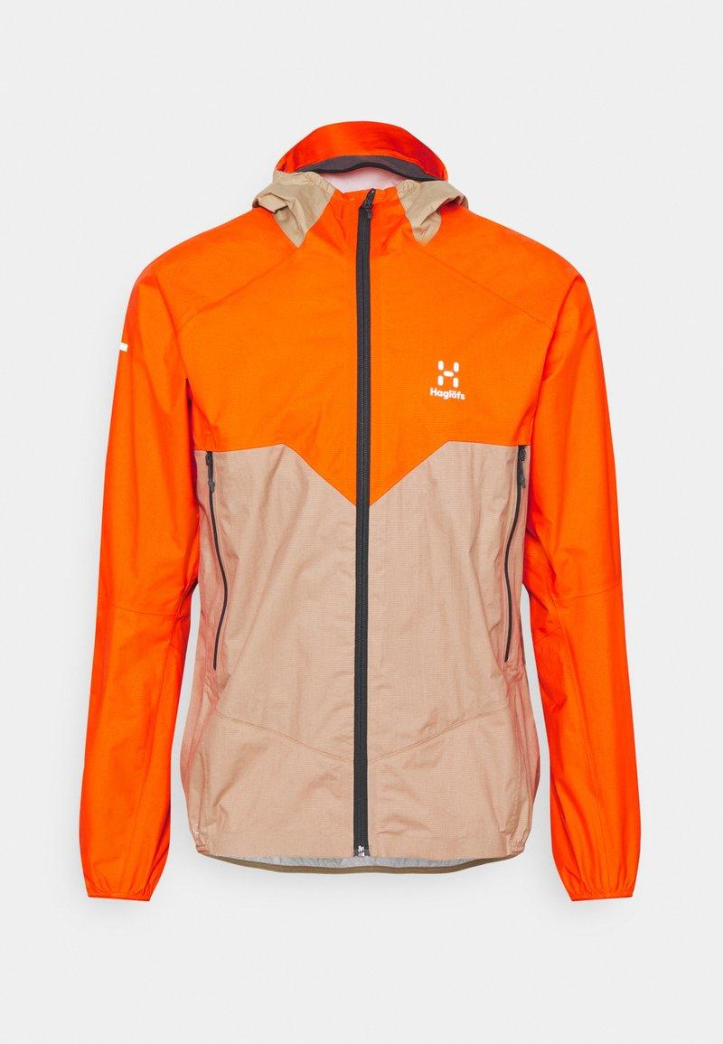 Haglöfs - PROOF MULTI JACKET MEN - Hardshell jacket - flame orange/sand