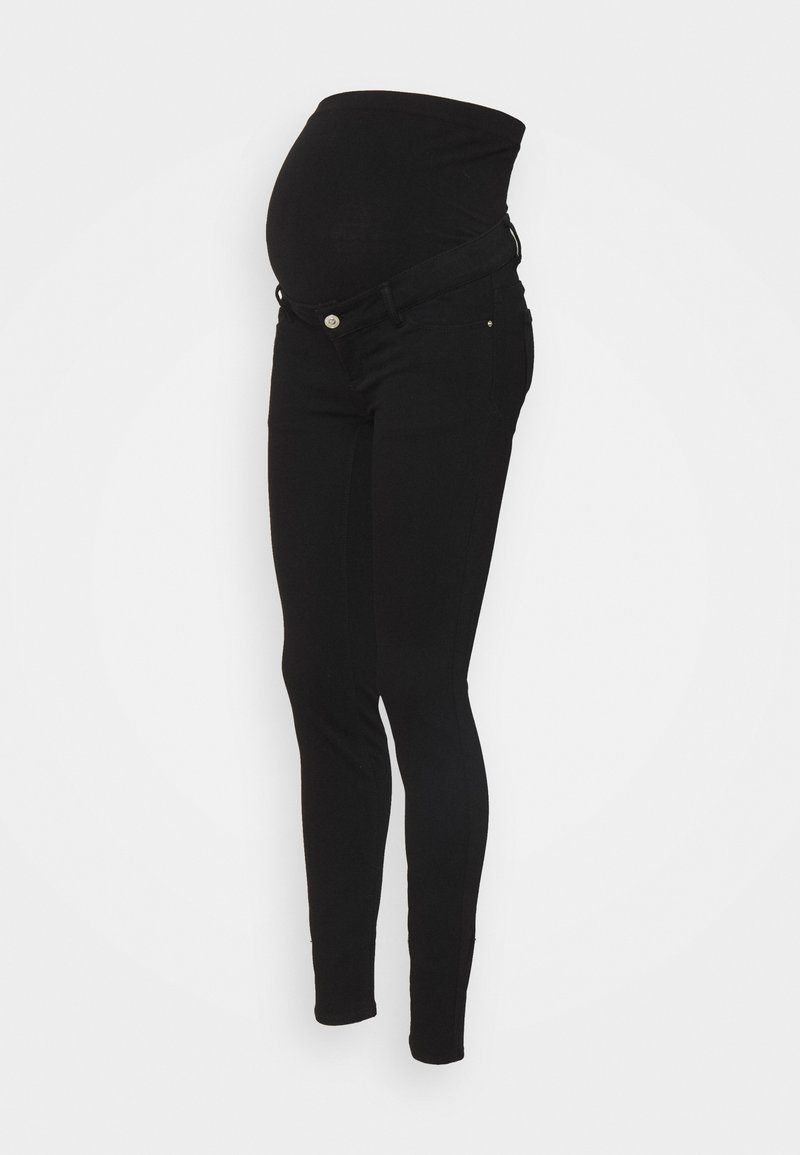 Pieces Maternity - PCMDELLA  - Jeans Skinny Fit - black denim