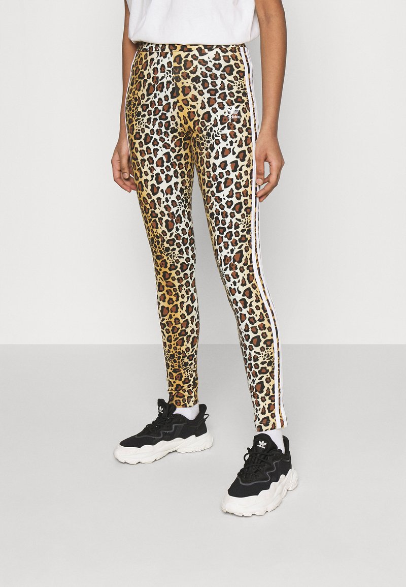 adidas Originals - LEOPARD TIGHT - Leggings - Trousers - multco/mesa