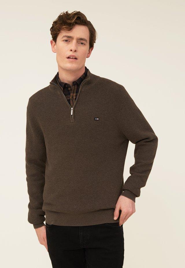 CLAY - Jumper - brown melange