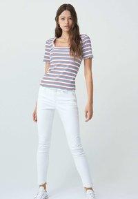Salsa - FRANCE BODYCON - Print T-shirt - blue / red / white - 1