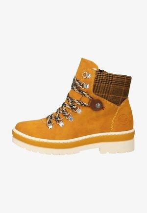 Lace-up ankle boots - ocker/yellow-black/mogano 68