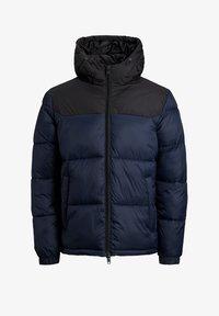 Jack & Jones Junior - JJDREW PUFFER HOOD - Winter jacket - navy blazer - 0