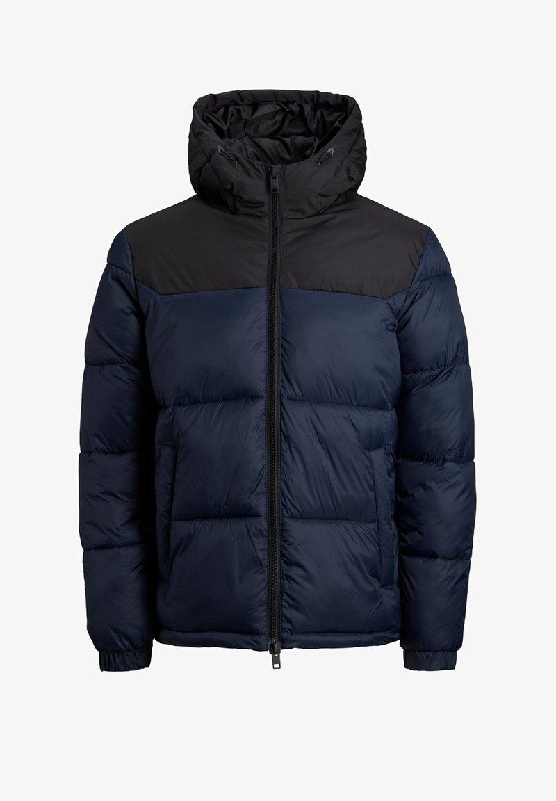 Jack & Jones Junior - JJDREW PUFFER HOOD - Winter jacket - navy blazer