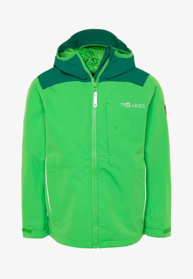 KIDS BERGEN - Outdoorjas - dark green/bright green