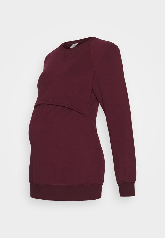 WARMER - Sudadera - burgundy