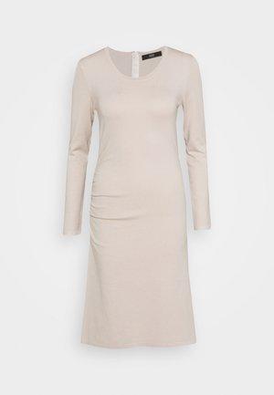 STRETCH DRESS SPECIAL - Abito in maglia - almond