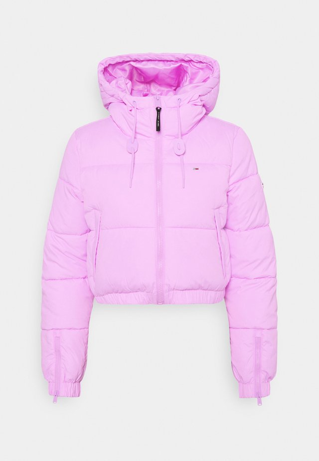 CROPPED PUFFER - Veste d'hiver - fresh orchid