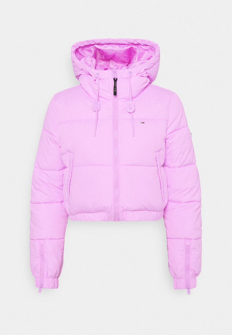 Tommy Jeans - CROPPED PUFFER - Winter jacket - fresh orchid