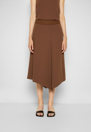 COMBO FLARE SKIRT - A-line skirt - cedar