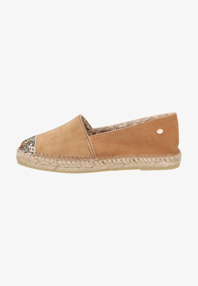 Espadrilles - light brown multi