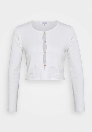 SLIM CARDIGAN - Cardigan - white