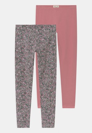 2 PACK - Leggings - Trousers - dusty rose