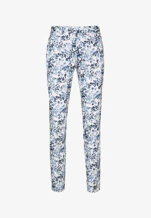 FLORAL - Kalhoty - blue