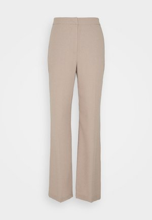 SHAPED SUIT PANTS - Trousers - taupe