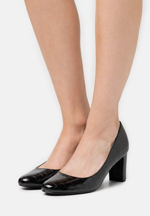 DENVER ALMOND TOE COURT - Classic heels - black