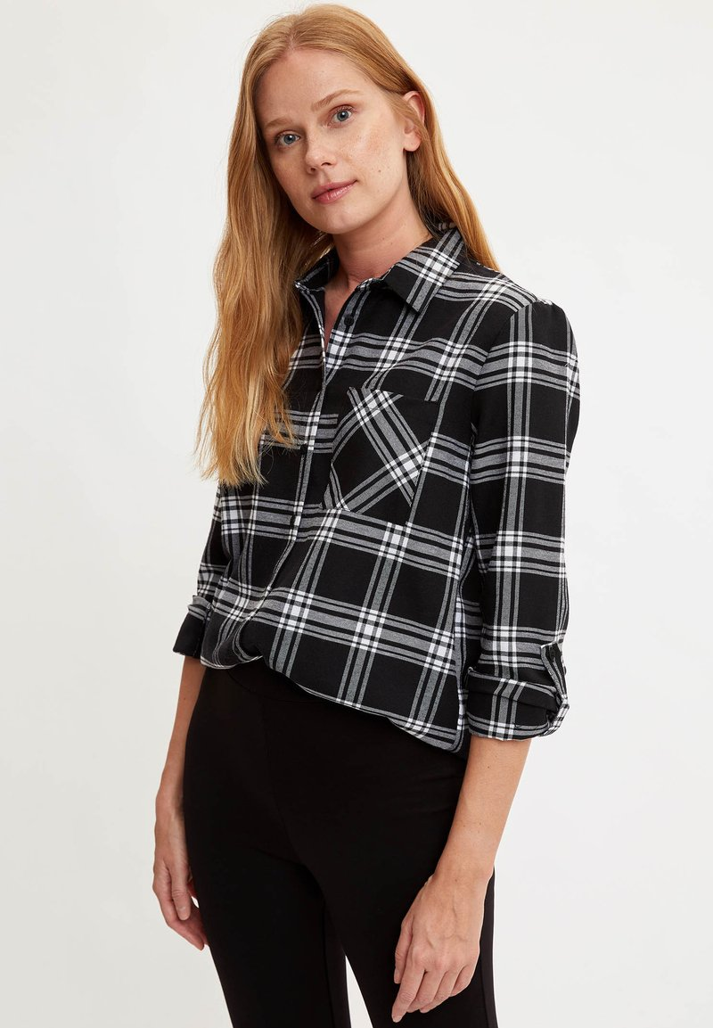 DeFacto - Button-down blouse - black