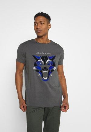 WOLF TEE - T-shirt print - grey