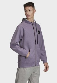 adidas Performance - MUST HAVES STADIUM HOODIE - Hættetrøjer - purple melange - 2