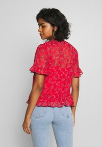 Tommy Jeans - FRILL DETAIL  - Blouse - deep crimson - 2