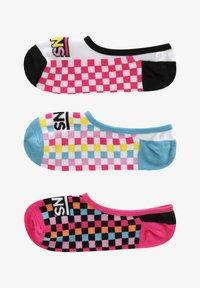 Vans - WM ZOO CHECK CANOODLES (6.5-10, 3PK) - Trainer socks - multi - 0