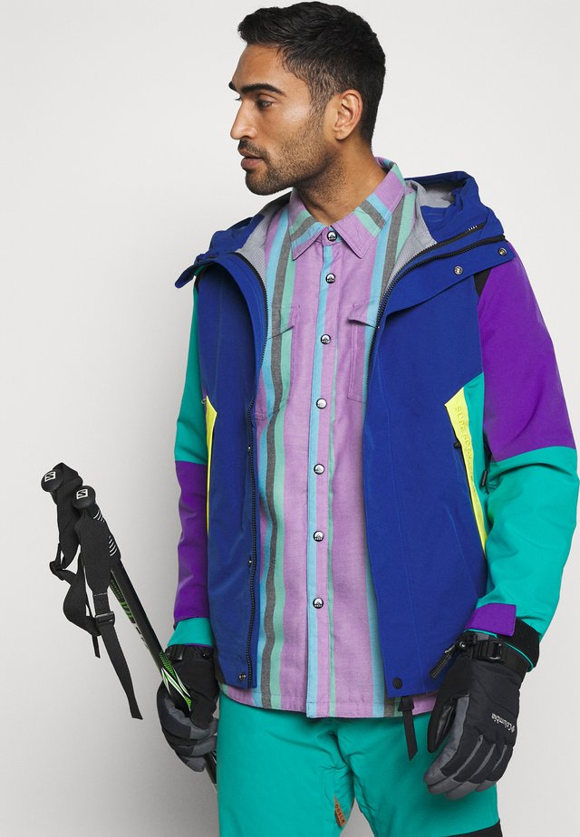 FRESH POW REVERSIBLE - Laskettelutakki - purple/black/green/blue