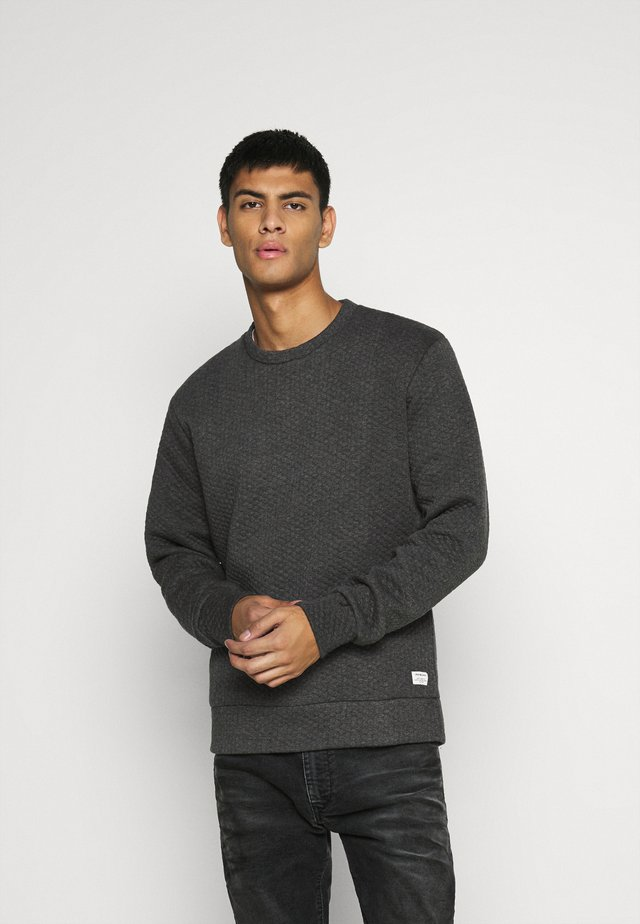 JJSTRUCTURE CREW NECK - Sweater - dark grey melange