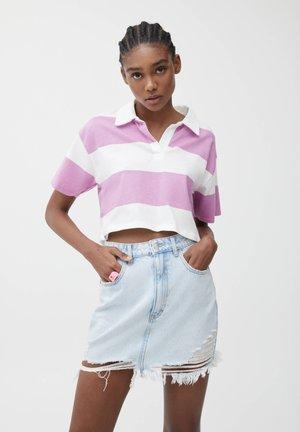 MIT BREITEN STREIFEN - Koszulka polo - mottled pink