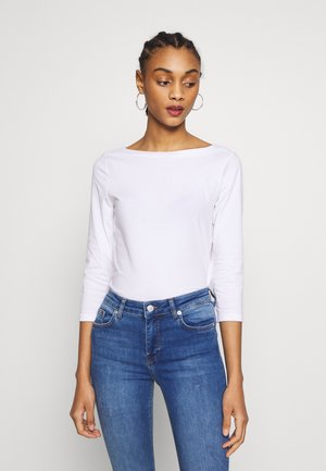 ONLFIFI LIFE BOAT NECK - Camiseta de manga larga - bright white