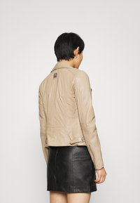 Freaky Nation - BIKER PRINCESS - Leather jacket - driftwood - 2