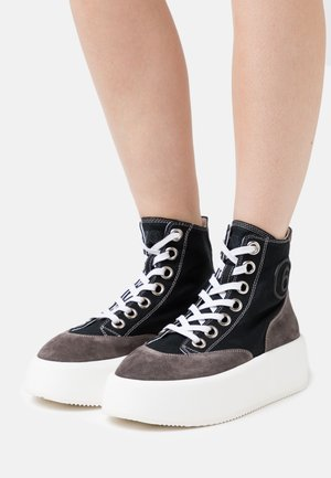 High-top trainers - black/iron