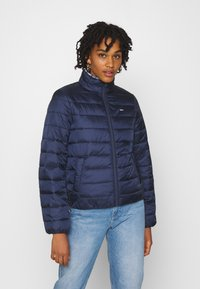 Tommy Jeans - QUILTED ZIP THROUGH - Jas - twilight navy - 0