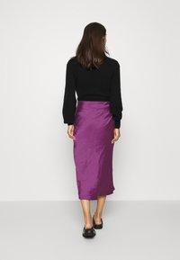 Expresso - HIRA - A-line skirt - dark violet - 2