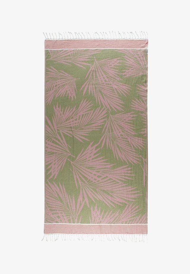 MIT PALMEN-PRINT AUS REINER BAUMWOLLE - Beach towel - rosa