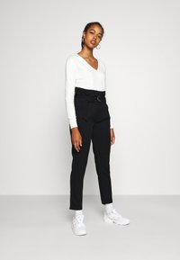 Tommy Jeans - PAPERBAG - Trousers - black - 1