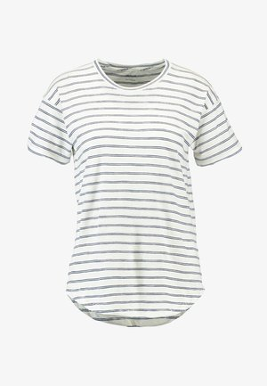 WHISPER CREWNECK TEE IN STRIPE - T-Shirt print - nightfall/sand dune
