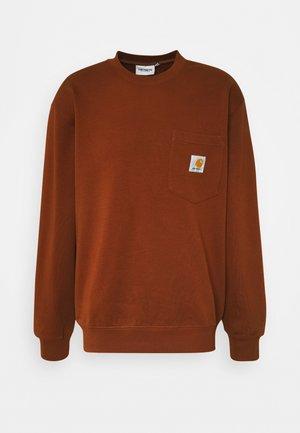 POCKET - Sweatshirt - brandy