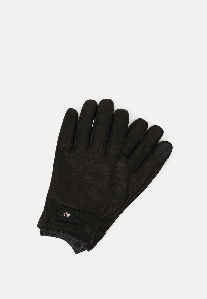Tommy Hilfiger - ELEVATED FLAG GLOVES - Gloves - black