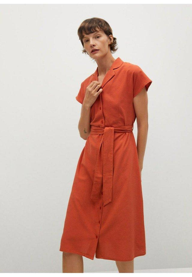 NUDO-H - Shirt dress - burnt orange
