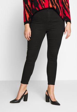 HIGH WAIST SKINNY - Vaqueros pitillo - black